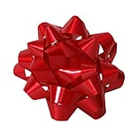 JAM Paper® Gift Bows, 3.5 Diameter, Red, 12/pack (38366456)