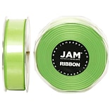 JAM Paper® Sheer Organza Ribbon, 7/8 Inch Wide x 25 Yards, Lime Green, Sold Individually (807SAappgr