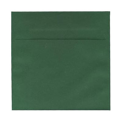 JAM Paper® 7.5 x 7.5 Square Envelopes, Dark Green, 25/pack (31512719)