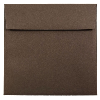 JAM Paper® 7.5 x 7.5 Square Envelopes, Chocolate Brown, 25/pack (227912749)