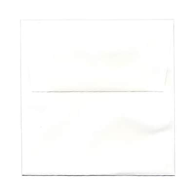 JAM Paper® 5.5 x 5.5 Square Invitation Envelopes, White Semi Gloss, 100/Pack (02792259b)