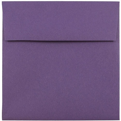 JAM Paper® 5.5 x 5.5 Square Envelopes, Dark Purple, 1000/carton (263914942b)