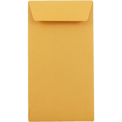 JAM Paper® #5.5 Coin Envelopes, 3.125 x 5.5, Brown Kraft, 50/pack (1623991i)