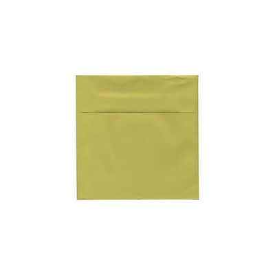 JAM Paper® 5.5 x 5.5 Square Envelopes, Chartreuse, 25/pack (EXBA509)