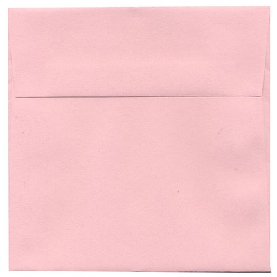 JAM Paper® 5.5 x 5.5 Square Envelopes, Baby Pink, 25/pack (3106613315)