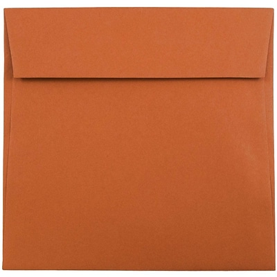 JAM Paper® 6.5 x 6.5 Square Envelopes, Dark Orange, 1000/carton (3157452b)