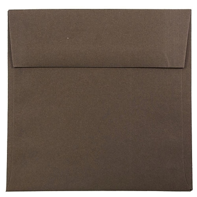 JAM Paper® 6.5 x 6.5 Square Envelopes, Chocolate Brown, 25/pack (227912746)