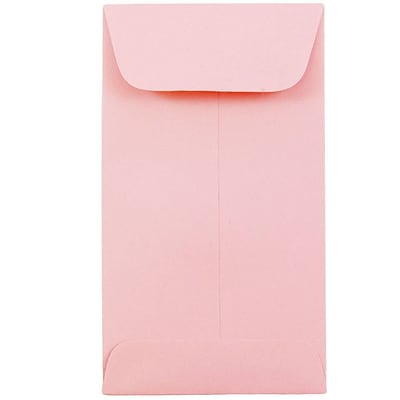 JAM Paper® #6 Coin Envelopes, 3 3/8 x 6, Baby Pink, 50/pack (356730562i)