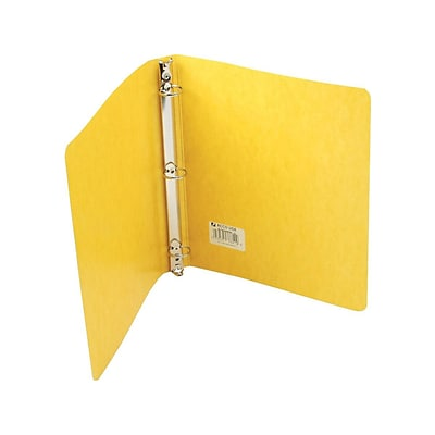 Wilson Jones PRESSTEX Standard 1 3-Ring Non-View Binder, Yellow (A7038610)