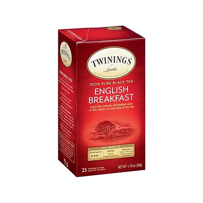 Twinings English Breakfast Tea Bags, 25/Box (TNA51726)