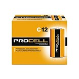 Duracell PROCELL Alkaline Battery, C, 12 Pack (PC1400)