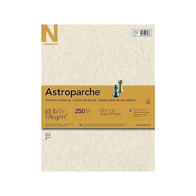 Astroparche Cardstock Paper, 65 lbs, 8.5 x 11 (US letter), Natural, 250/Pack (26428/27428)