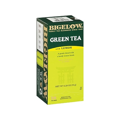 Bigelow Green with Lemon Tea Bags, 28/Box (RCB10346)