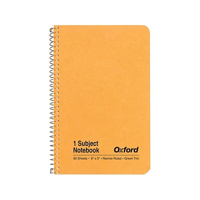 Oxford 1-Subject Notebook, 5 x 8, Narrow Ruled, 80 Sheets, Kraft (OXF 25-401R)