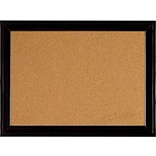 Quartet Cork Bulletin Board, Black Frame, 23 x 17 (79281)