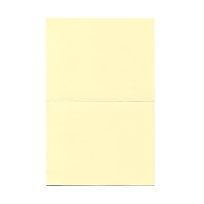 JAM Paper® Fold over Cards, A2 size, 4 3/8 x 5 7/16, Ivory, 25/pack (309908f)