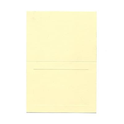 JAM Paper® Blank Foldover Cards, 4Bar A1 Size, 3 1/2 x 4 7/8, Ivory Panel, 25/Pack (309898f)