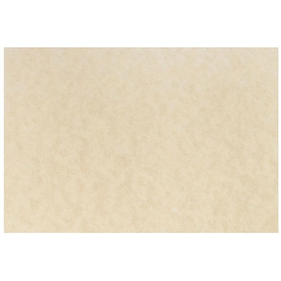 JAM Paper® Blank Note Cards, A7 size, 5 1/8 x 7, Natural Parchment, 25/pack (17531641)