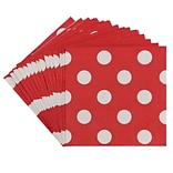 JAM Paper® Polka Dot Beverage Napkins, Small, 5 x 5, Red, 16/Pack (298NAPre)