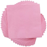 JAM Paper® Square Lunch Napkins, Medium, 6.5x6.5, Baby Pink, 600/box (6255620714b)