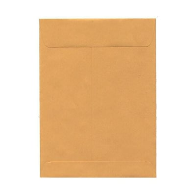 JAM Paper® 7.5 x 10.5 Open End Envelopes, Brown Kraft, 100/pack (29215)