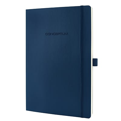 Sigel Softcover Lined Notebook - A4 Extra Large Size with Elastic Closure (SGA4SEL-BL)