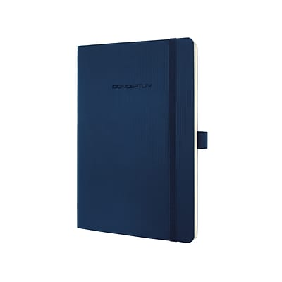 Sigel Softcover Lined Notebook - A5 Journal Size with Elastic Closure (SGA5SEL-BL)