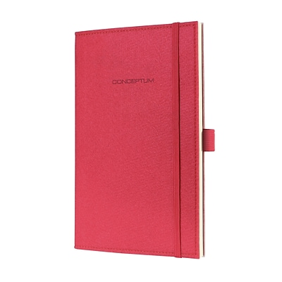 Sigel Felt Cover Lined Notebook - A5 Journal Size with Elastic Closure (SGA5FEL-CR)