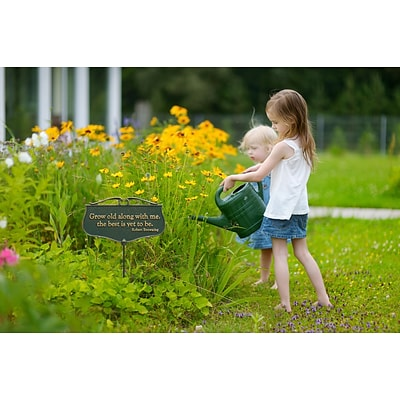 Grow old along with me...  - Garden Poem Sign (Whitehall Products) 10045
