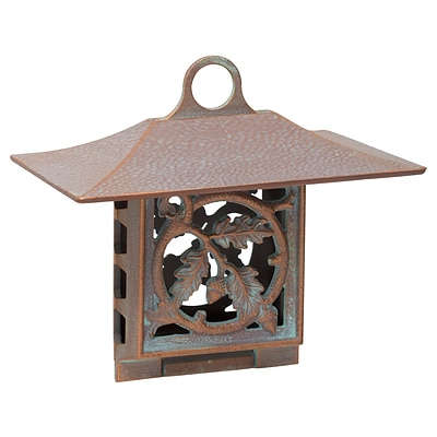 Oak Leaf Suet Feeder - Copper Verdigris (Whitehall Products) 30054