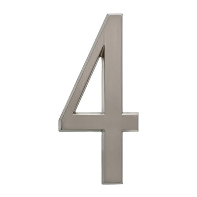4.75 Number 4 Brushed Nickel (Whitehall Products) 11224