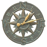 Whitehall Products 16 Compass Rose Clock (1297)