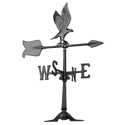 24  Eagle Accent Weathervane - Black (Whitehall Products) 68