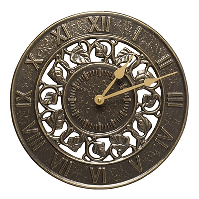 Ivy Silhouette Clock - French Bronze (Whitehall Products) 01834
