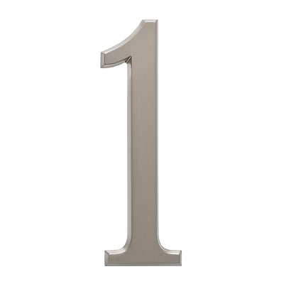 4.75 Number 1 Brushed Nickel (Whitehall Products) 11221