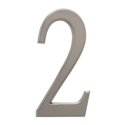 4.75 Number 2 Brushed Nickel (Whitehall Products) 11222