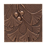 Gingko Leaf Wall Décor - Antique Copper (Whitehall Products) 10247