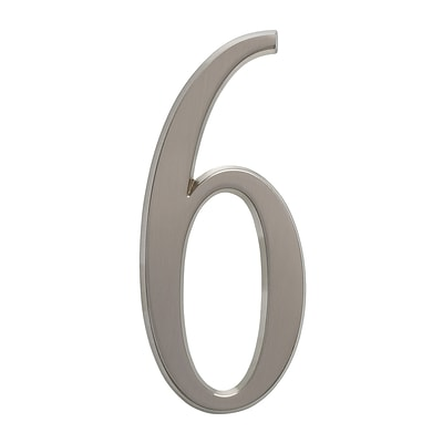 4.75 Number 6 Brushed Nickel (Whitehall Products) 11226