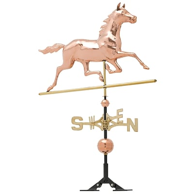 Copper Horse Weathervane - Polished (Whitehall Products) 45031