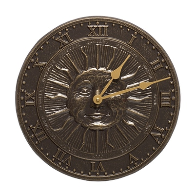 Sunface Clock - French Bronze (Whitehall Products) 01588