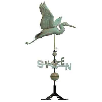 Copper Heron Weathervane - Verdigris (Whitehall Products) 45034