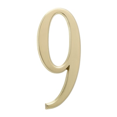 4.75 Number 9 Satin Brass (Whitehall Products) 11219