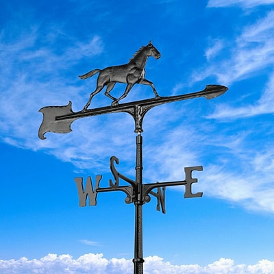 30  Horse Accent Weathervane - Black (Whitehall Products) 00074