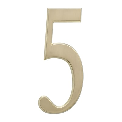 4.75 Number 5 Satin Brass (Whitehall Products) 11215