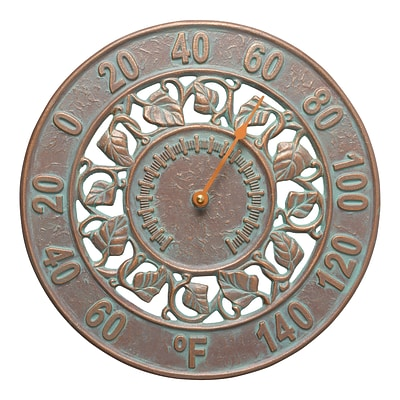 Ivy Silhouette Thermometer - Copper Verdigris (Whitehall Products) 1282