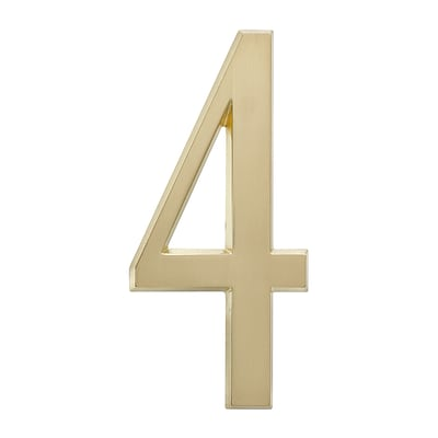 4.75 Number 4 Satin Brass (Whitehall Products) 11214