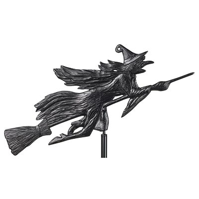 Flying Witch Garden Weathervane - Black (Whitehall Products) 00084