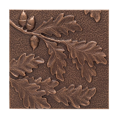 Oak Leaf Wall Décor - Antique Copper (Whitehall Products) 10246