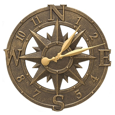 Whitehall Products 16 Compass Rose Clock (1173)