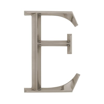 Classic 6 Inch Letter - E - Nickel (Whitehall Products) 11088